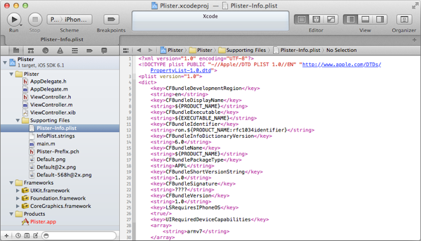 Xcode's source code editor